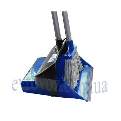 Набор для уборки совок с щеткой ДастерСэт синий