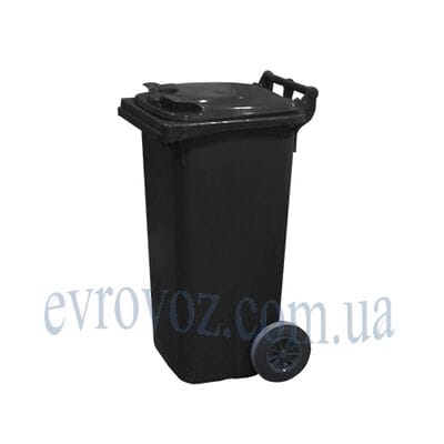 Мусорный контейнер 120л черный