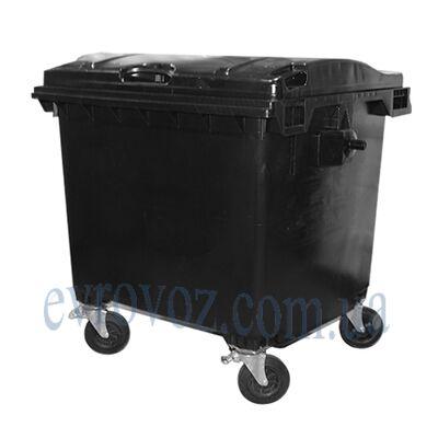 Мусорный контейнер 1100л черный