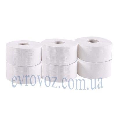Туалетная бумага в рулоне Джамбо 160 м целлюлоза 1410 листов