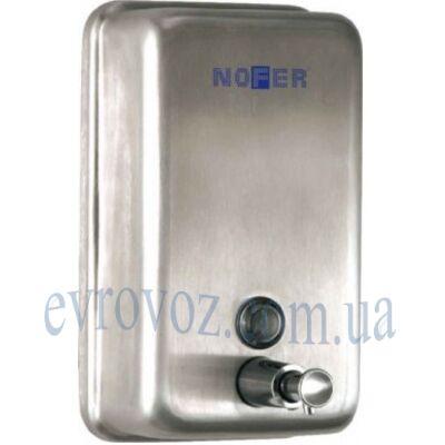 Дозатор жидкого мыла вертикальный Nofer матовый