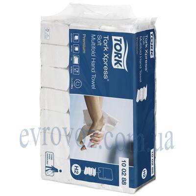 Листовые узкопанельные полотенца сложения Multifold Tork Xpress супер мягкие Premium