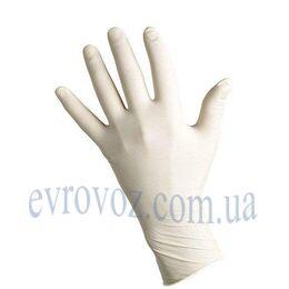 Перчатки латексные неопудренные белые размер L