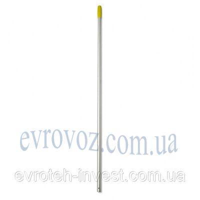 Ручка для швабры алюминиевая 140 см. желтая