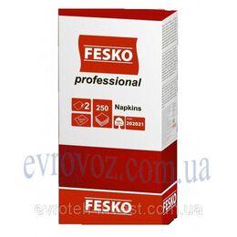 Салфетки Fesko Professional 33х33 двухслойные 250 листов красные