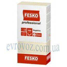 Салфетки Fesko Professional 33х33 двухслойные 250 листов шампань