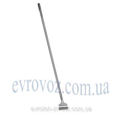 Скребок металлический для пола, ручка 120 см., Италия