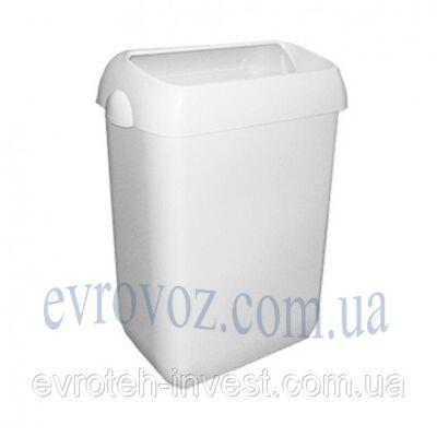 Урна Престо 55 литров с ободом-крышкой белая
