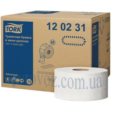 Т/бумага в мини рулонах джамбо Advanced Tork, мягкая