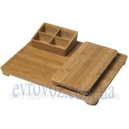 Комплект бамбуковых водонепроницаемых подносов
