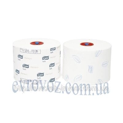Туалетная бумага Mid-size в миди рулонах мягкая Tork Premium