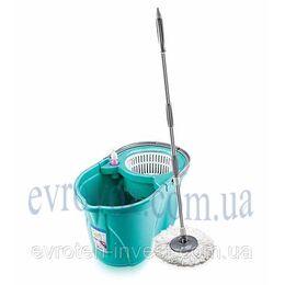 Комплект для мытья пола с механизмом центрифуги зеленый