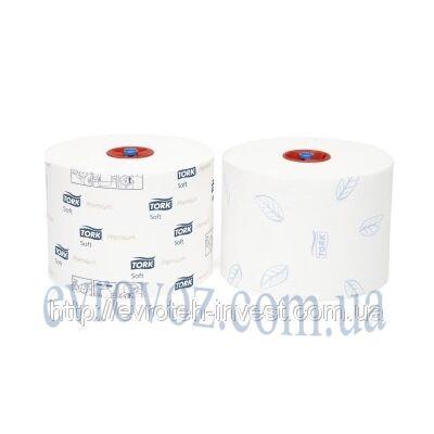 Туалетная бумага Mid-size в миди рулонах, мягкая Tork Premium