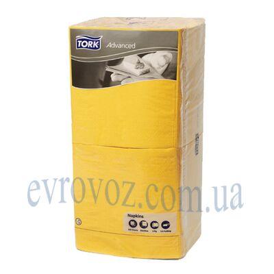 Салфетки Торк Professional 33х33 трехслойные 250 листов желтые