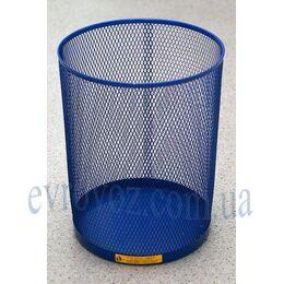 Ажурная корзина для бумаг синяя